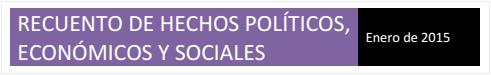 Informe de Hechos Relevantes correspondiente al mes de enero de 2015