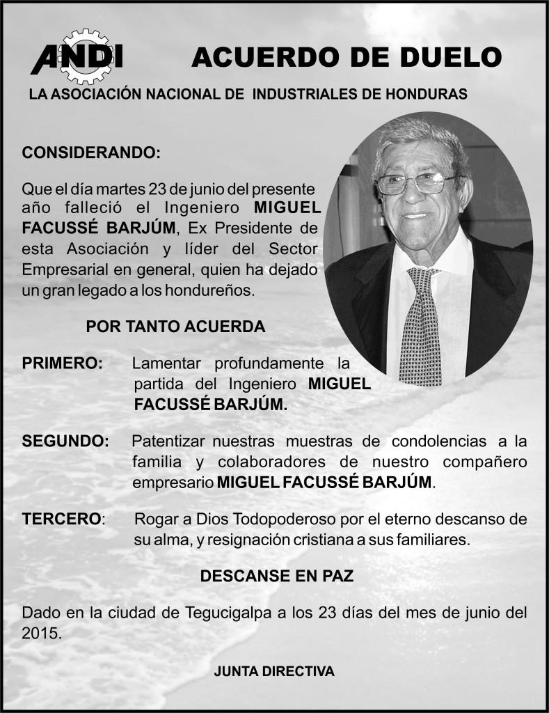 ACUERDO DE DUELO MIGUEL FACUSSE