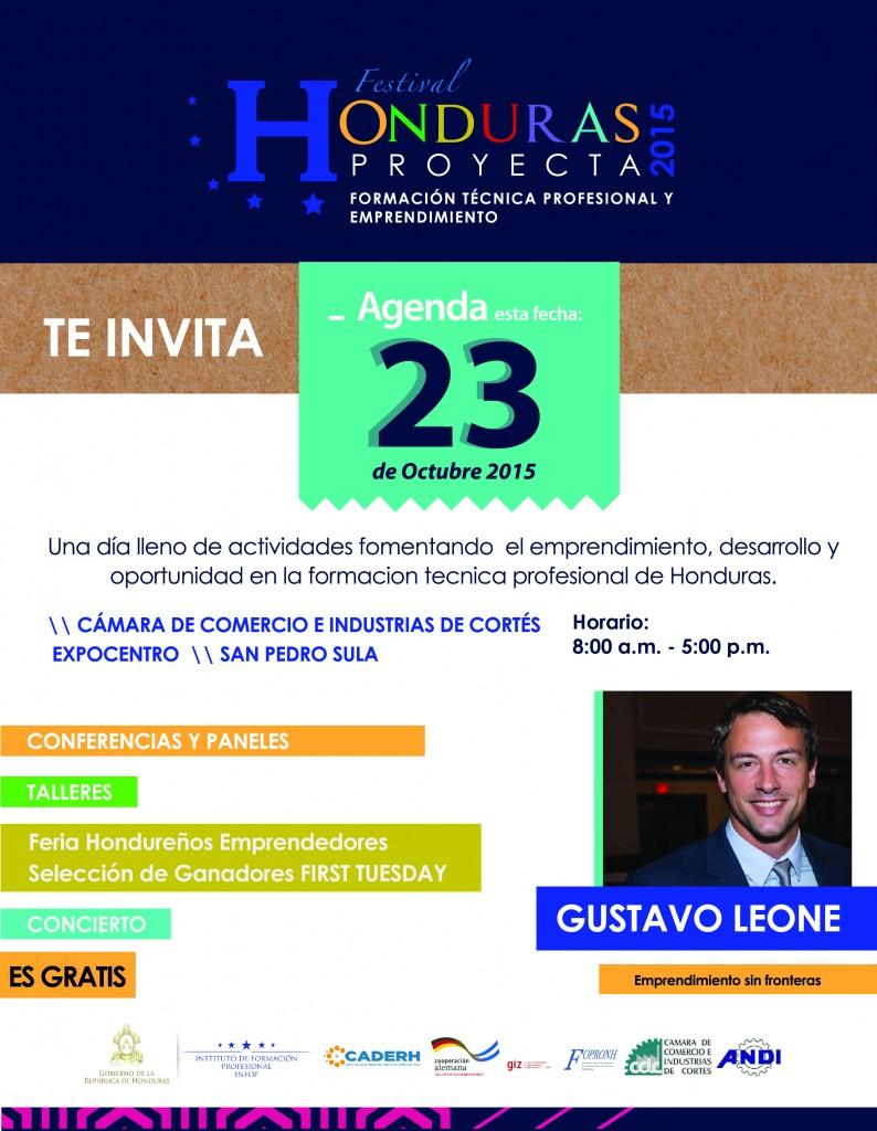 Festival Honduras Proyecta. Formación Técnica Profesional y Emprendimiento.