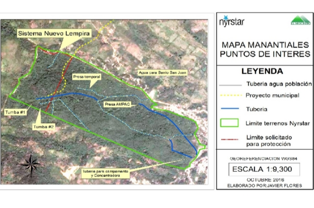 Mapa terreno de Manantiales y monitoreo de proyectos municipales